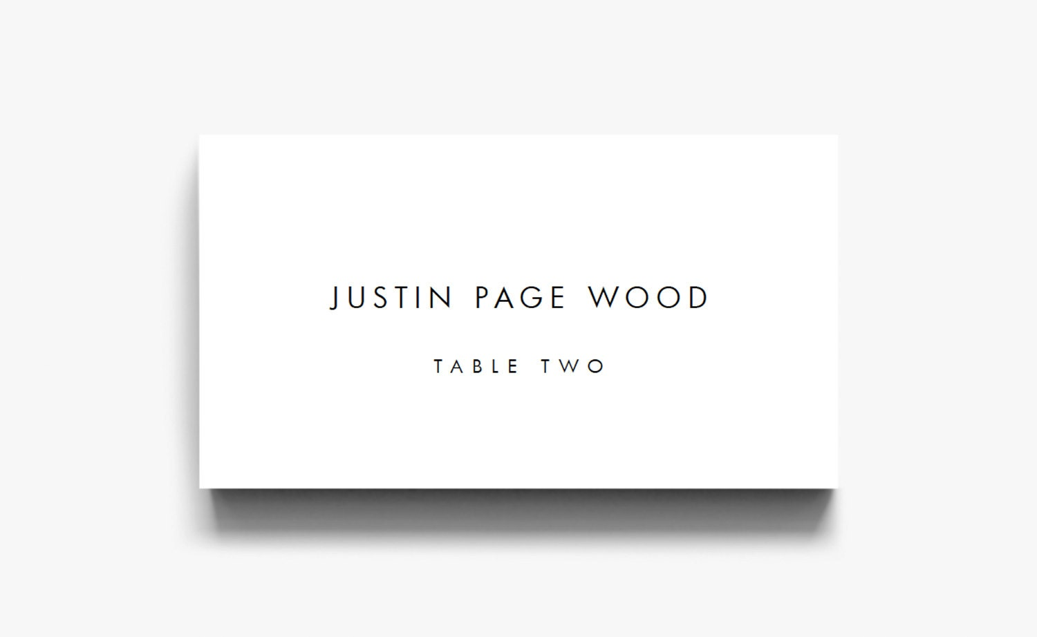 Name Card Template Name Cards For Wedding Table Cards Place Etsy