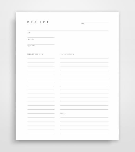 blank recipe book blank recipe cards blank recipe binder etsy