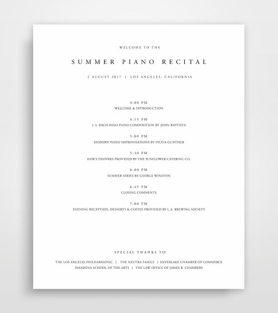 Event Program Template Program Template Event Program Event Etsy