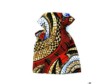 Hot water bottle - African warmth hot water bottle 500ml and cover - Heat pack Cold pack