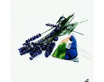 Lavender sachet -  Car air freshener Christmas, Kwanza, Pyramid shaped Lavender filled sachet in African fabrics