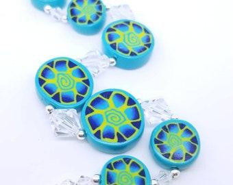 Polymer Clay and Swarovski Crystal Bracelet