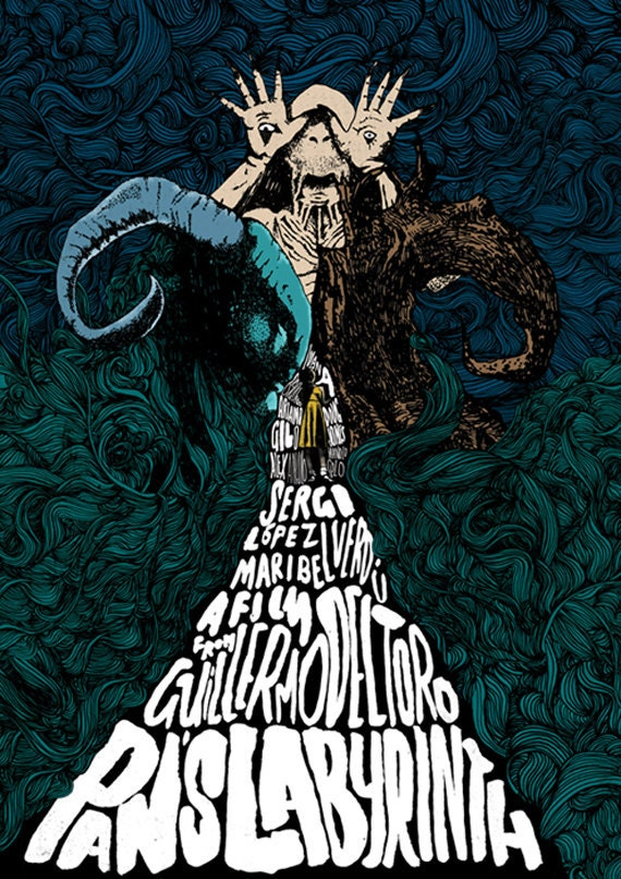 pan s labyrinth film poster etsy