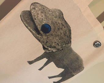 Lififant Screen-Printed Tote Bag and pin