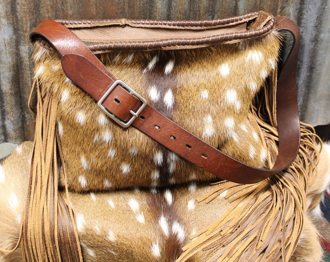 Axis Deer Hide and Italian Leather Purse