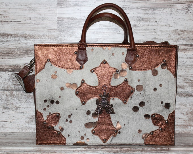 Cowhide Travel Bag or Baby Bag