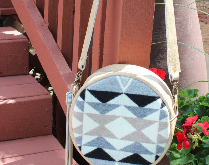 Pendleton Wool Canteen Crossbody with Italian Leather
