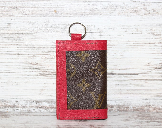 Authentic Vintage Louis Vuitton Card Holder Key Ring