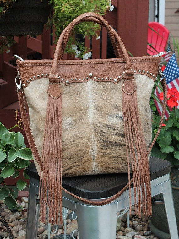 Cowhide Exotic Longhorn and Pebble Leather Purse