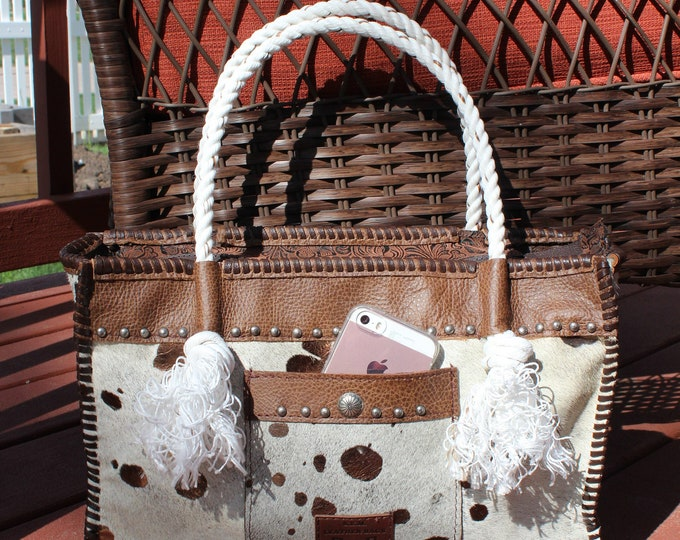 Cowhide Tote in the Appaloosa Collection