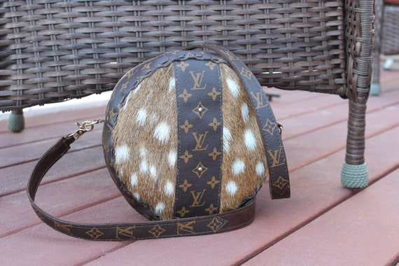 Axis Deer hide with reused  Louis Vuitton Canteen Purse