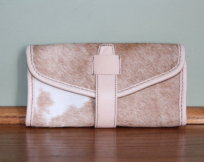 Wallet in Cowhide and goatskin leather