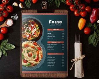 Italian Pizza Pasta Restaurant Menu Flyer Template   Food Menu Flyer Template   Printable Restaurant Menu   MS Powerpoint   Instant download