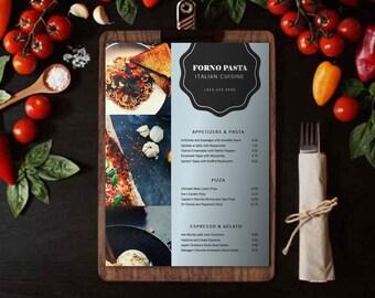 Pizza Pasta Italian Restaurant Menu Flyer Template   Food Menu Template   Printable Restaurant flyer   MS Powerpoint   Instant download