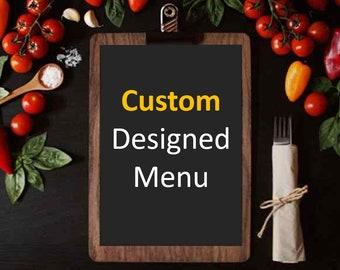 Template Redesign Restaurant Menu Flyer Template   Food Menu Flyer Template   Printable Restaurant flyer   MS Powerpoint   Instant download