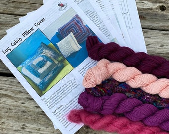 Knit Pillow Cover Pattern & Yarn Pack 10
