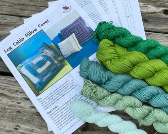 Knit Pillow Cover Pattern & Yarn Pack 24