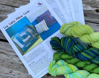 Knit Pillow Cover Pattern & Yarn Pack 22