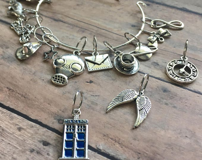 Featured listing image: Stitch Marker Bracelet - Doctor Who