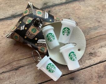 Starbucks Mugs in Cheetah Coffee Pouch