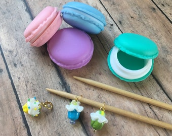 Macaron & Cupcake Stitch Markers