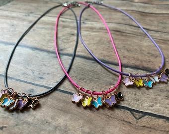 Butterfly Stitch Marker Necklace