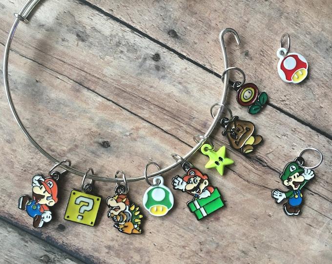 Featured listing image: Stitch Marker Bracelet - Super Mario Bros