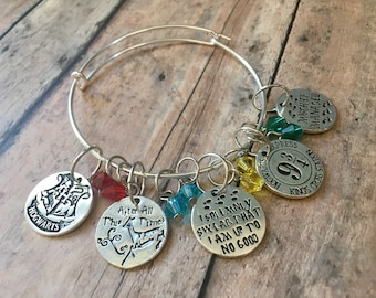 Stitch Marker Bracelet - Harry Potter Charms