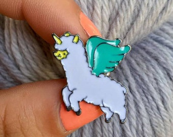 Enamel Pin - Unicorn Alpaca