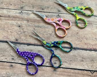 Colorful Crane Scissors