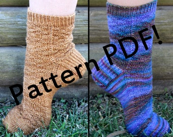 Grimhilde Socks: PDF Unisex Sock Knitting Pattern by The Sexy Knitter