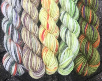 Magical Miniskeins - Bubotubers: hand dyed yarn miniskein for your knitting project bag