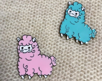 Enamel Pins - Cotton Candy Alpacas