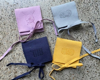 Suede Yarn Pouches