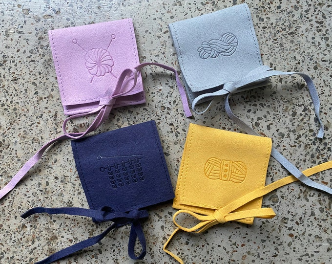 Featured listing image: Suede Yarn Pouches