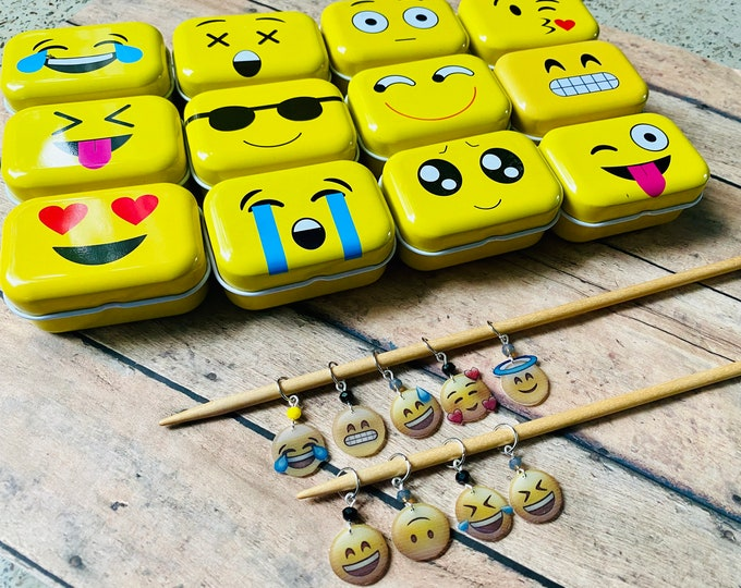 Featured listing image: Emoji Markers in Tin