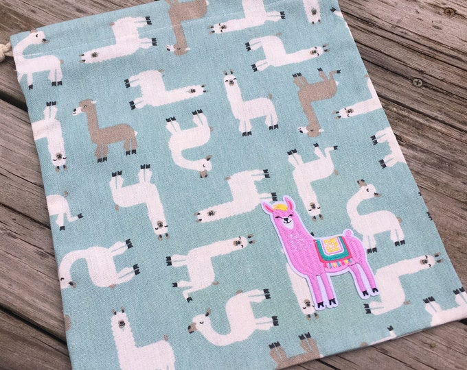 Featured listing image: Frolicking Llama Project Bag