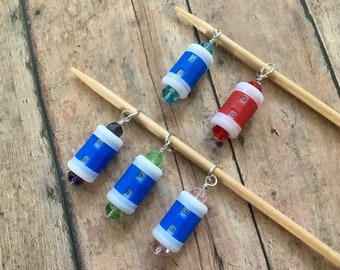 Beaded Row Counter Stitch Marker