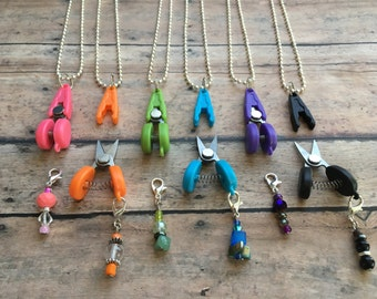 Scissor/Stitch Marker Necklace