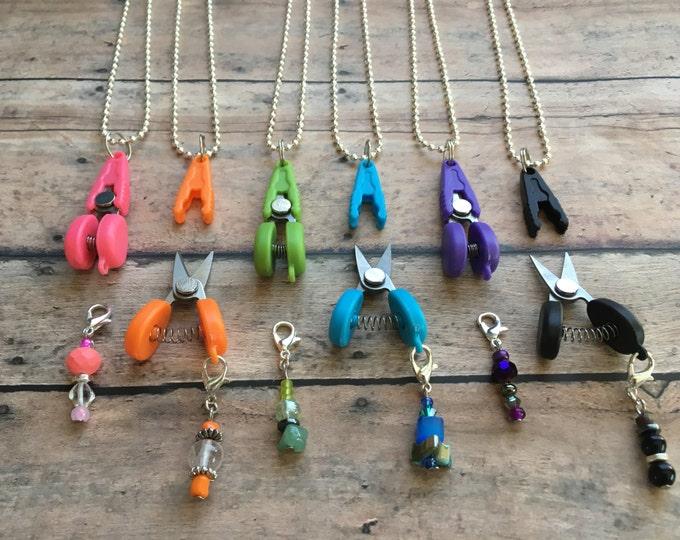 Featured listing image: Scissor/Stitch Marker Necklace