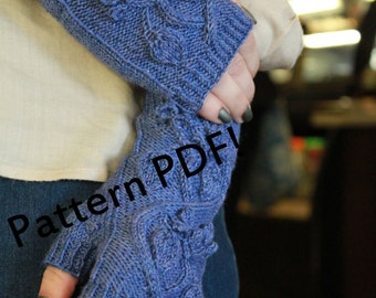 Huckleberry Fingerless Mittens