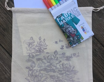 Color Your Own Project Bag Kit