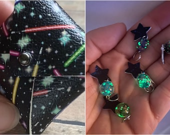 Glow-in-the-dark Stars in Lightsaber Pouch