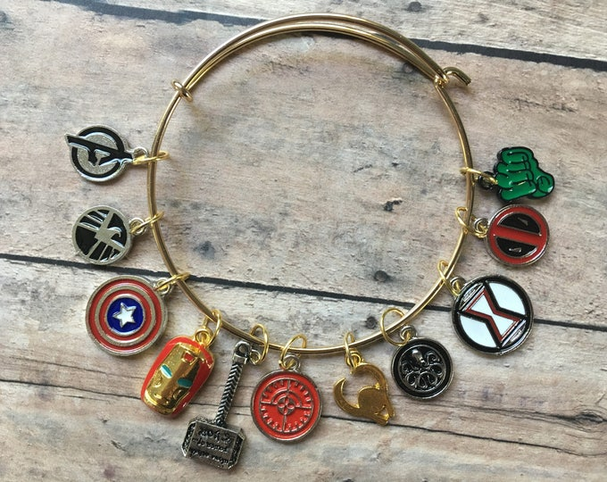 Featured listing image: Stitch Marker Bracelet - Avengers