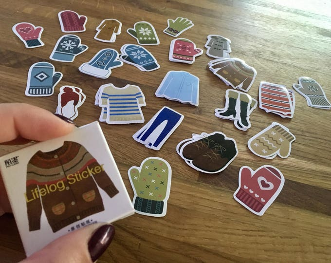 Featured listing image: Winter Wardrobe Sticker Set