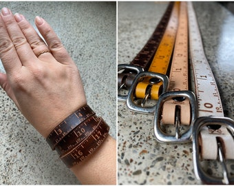 Triple Wrap Leather Ruler Bracelet