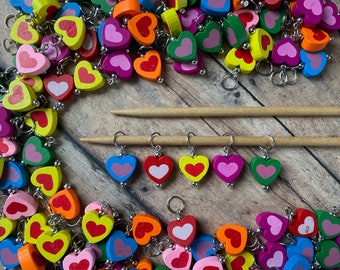 Candy Heart Stitch Markers