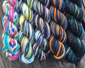Magical Miniskeins - Professor Sinistra - 25 yards per skein, set of 5 miniskeins for wizard fans