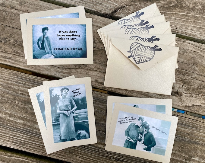 Featured listing image: Vintage Sass Notecard Set