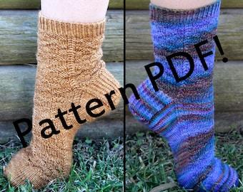 Grimhilde Socks: PDF Unisex Sock Knitting Pattern by The Sexy Knitter